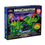 MagCreator 2-in-1 DINOS Mags - 3D MAGNETIC CONSTRUCTION - 56 Pieces - NEW